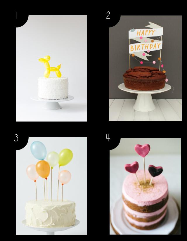 DIY Cake Topper Inspiration