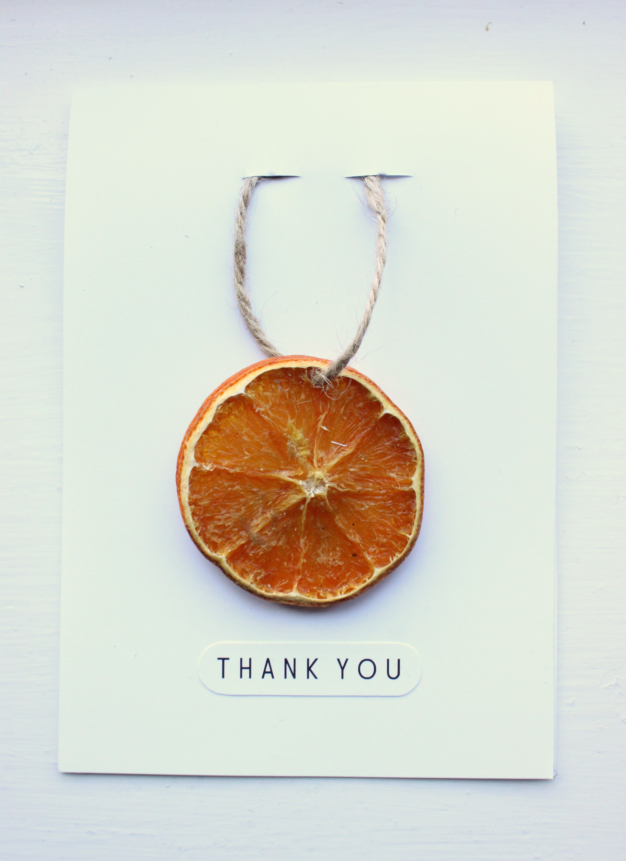 Dried Orange Thank You Card