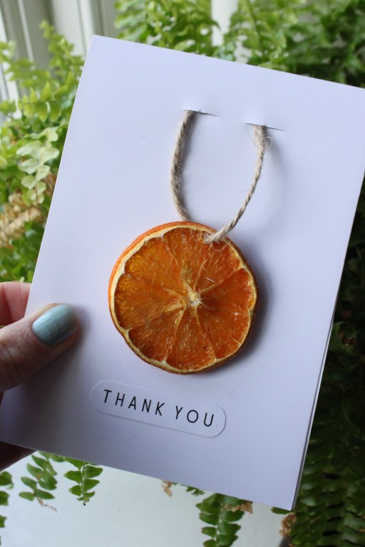 Dried Orange Slice Card