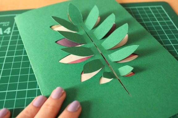 Paper Leaf Card