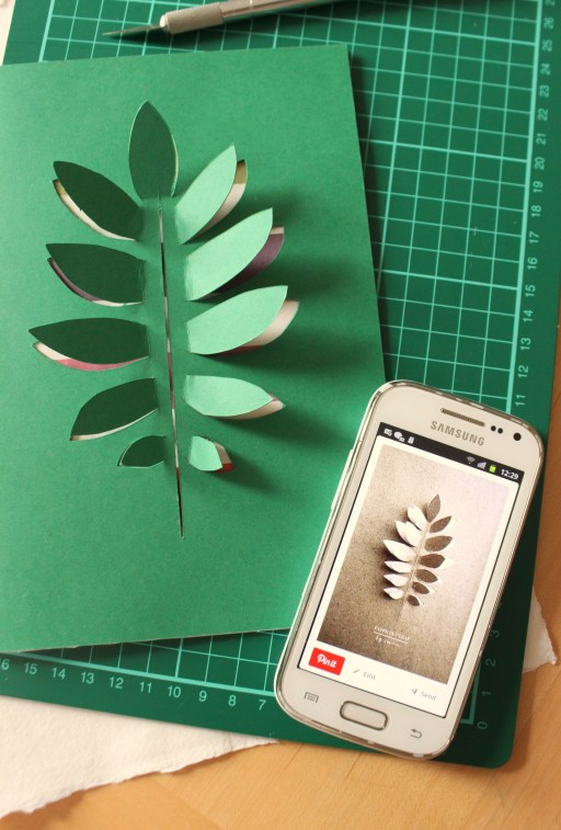 DIY Paper Leaf Card