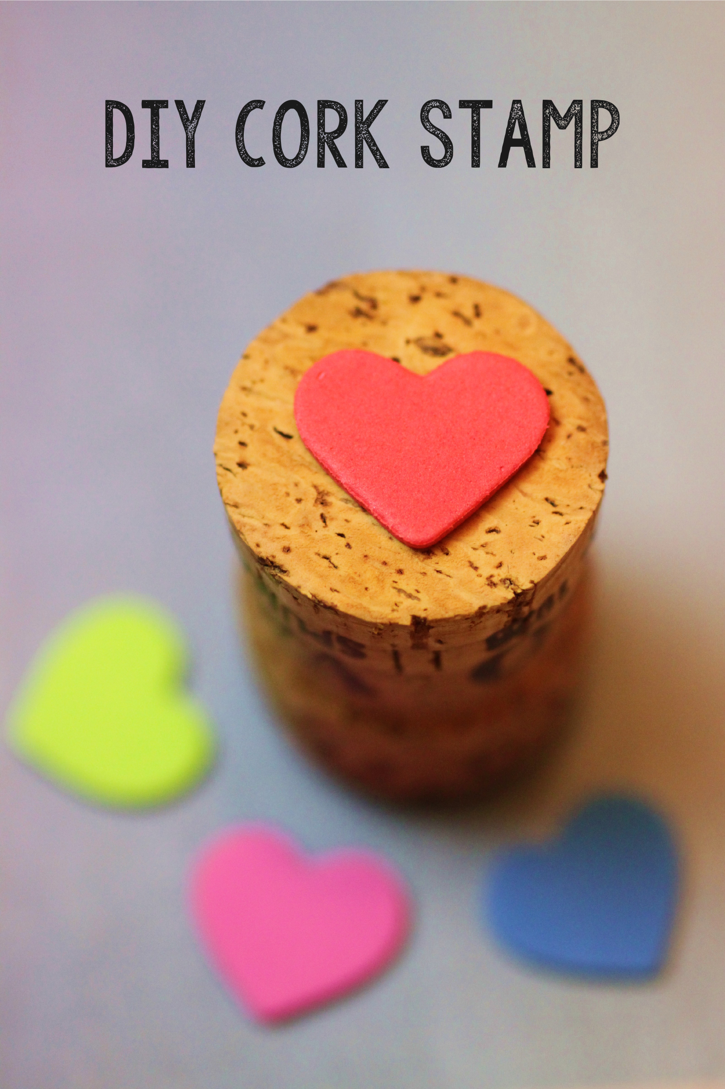Diy Heart Cork Stamp Shelley Makes