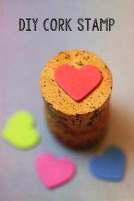 Heart Cork Stamp