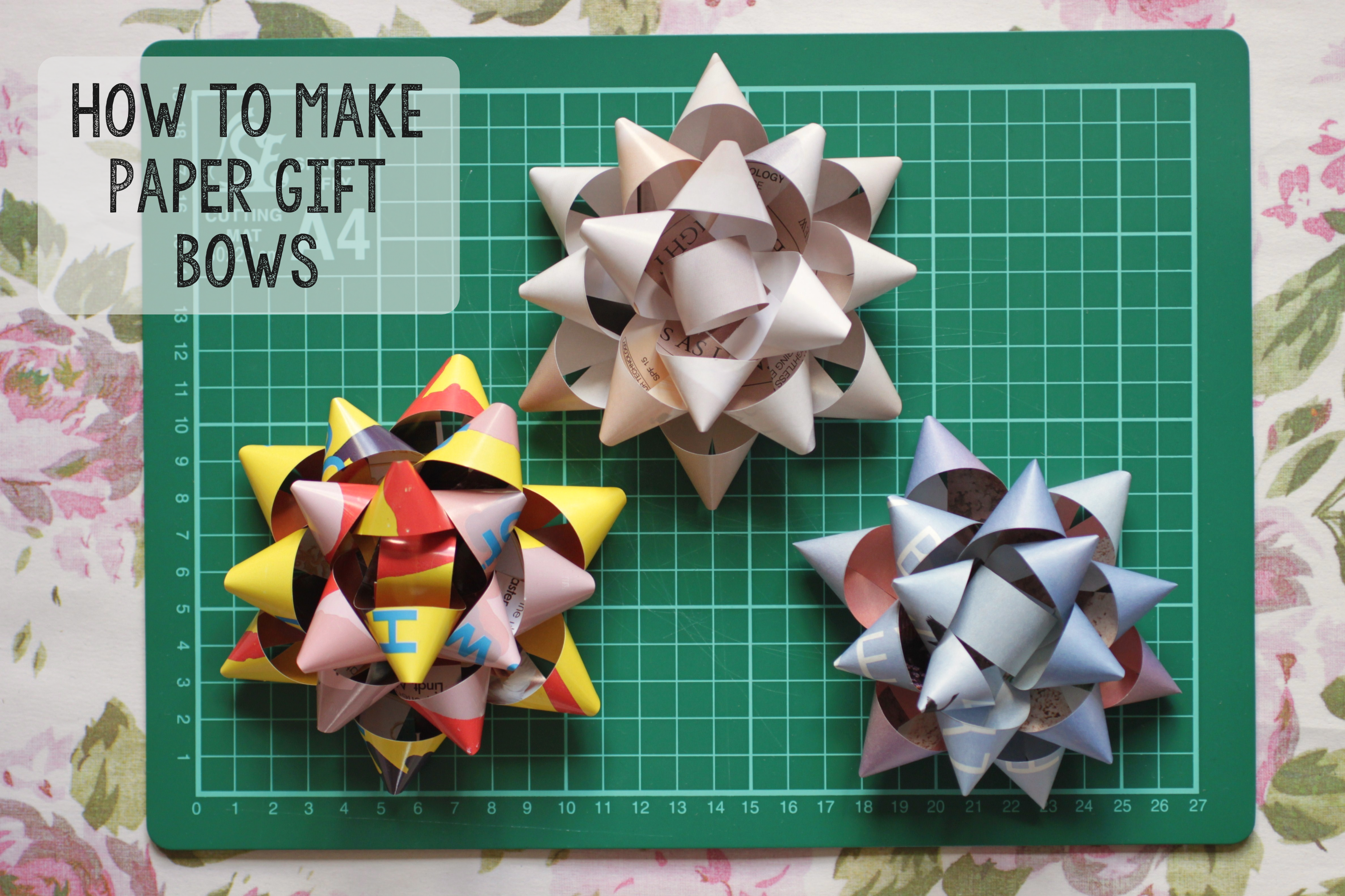 How to make a gift bow using paper