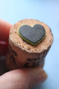 DIY Cork Heart Stamp