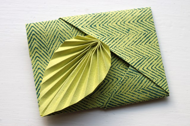 origami leaf card instructions