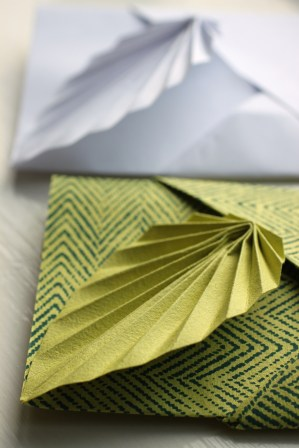 Easy origami leaf card