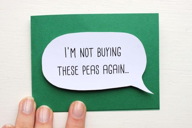 Pea Confetti Card