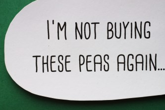 'I'm Not Buying These Peas Again' Confetti Card | Shelley Makes