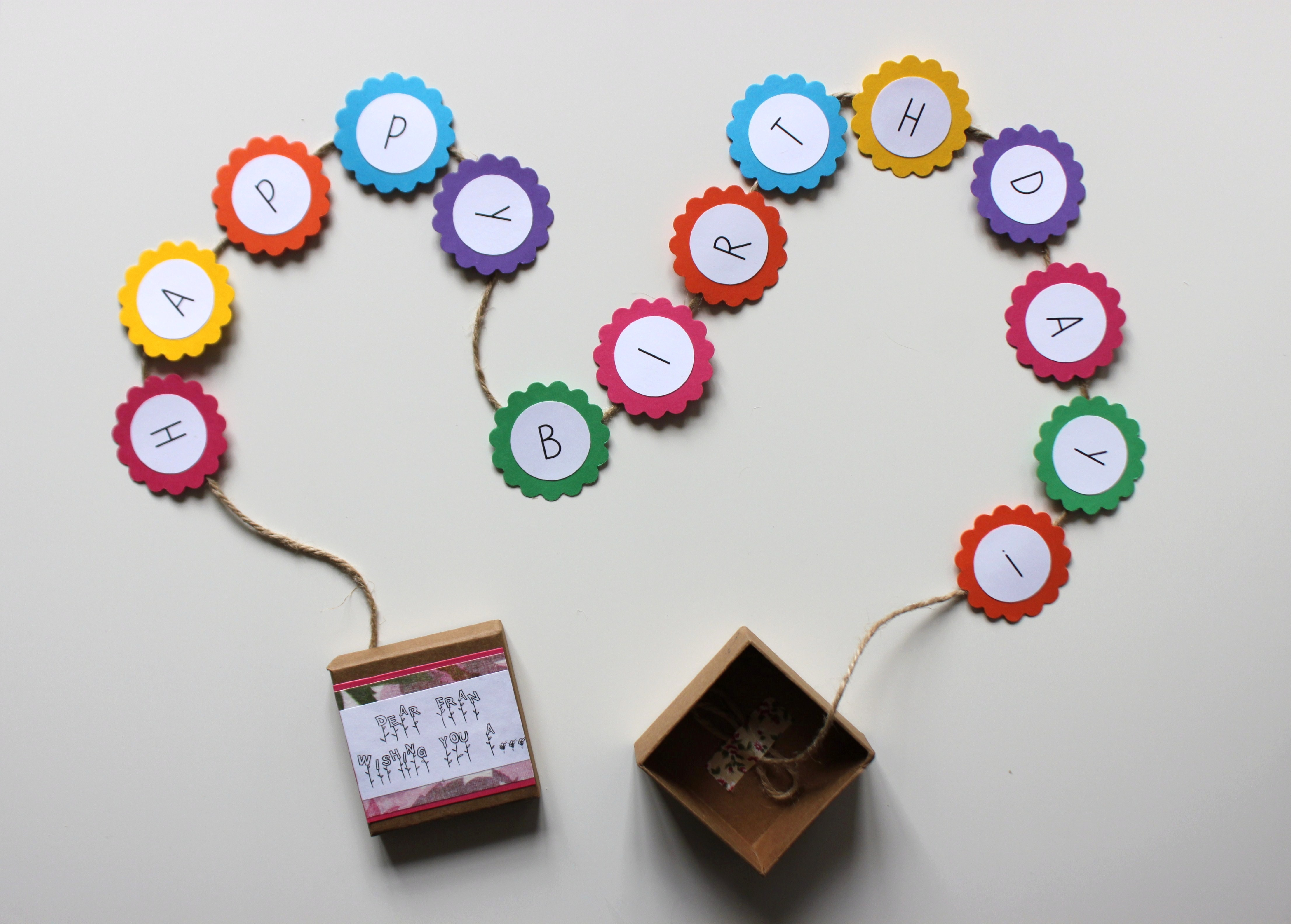 DIY Happy Birthday Banner Box   Shelley Makes
