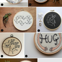 Inspiration: Embroidery Hoop Art