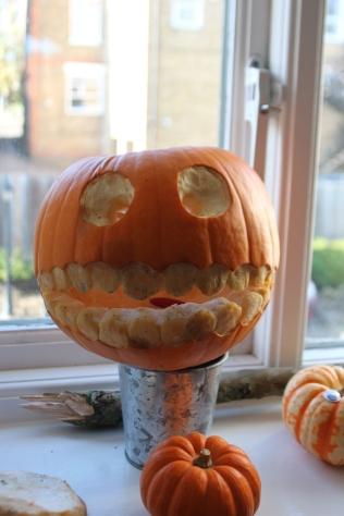 Pupkin with teeth