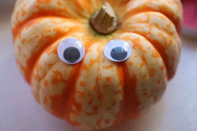 Pumpkin googly eyes