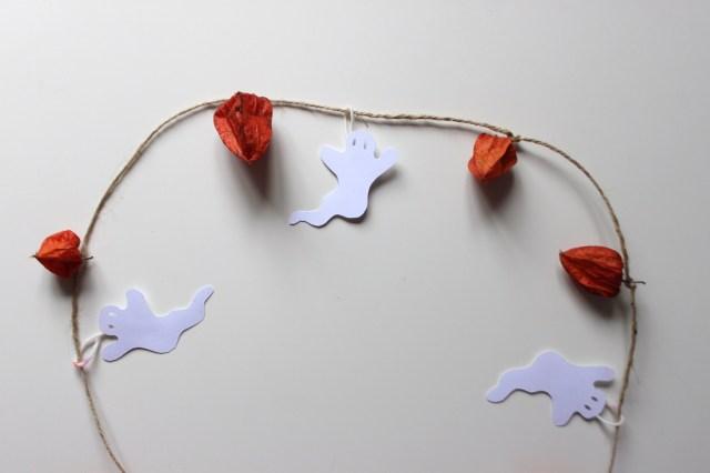 Halloween chinese lantern banner