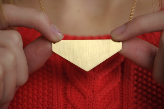 DIY Geometric necklace