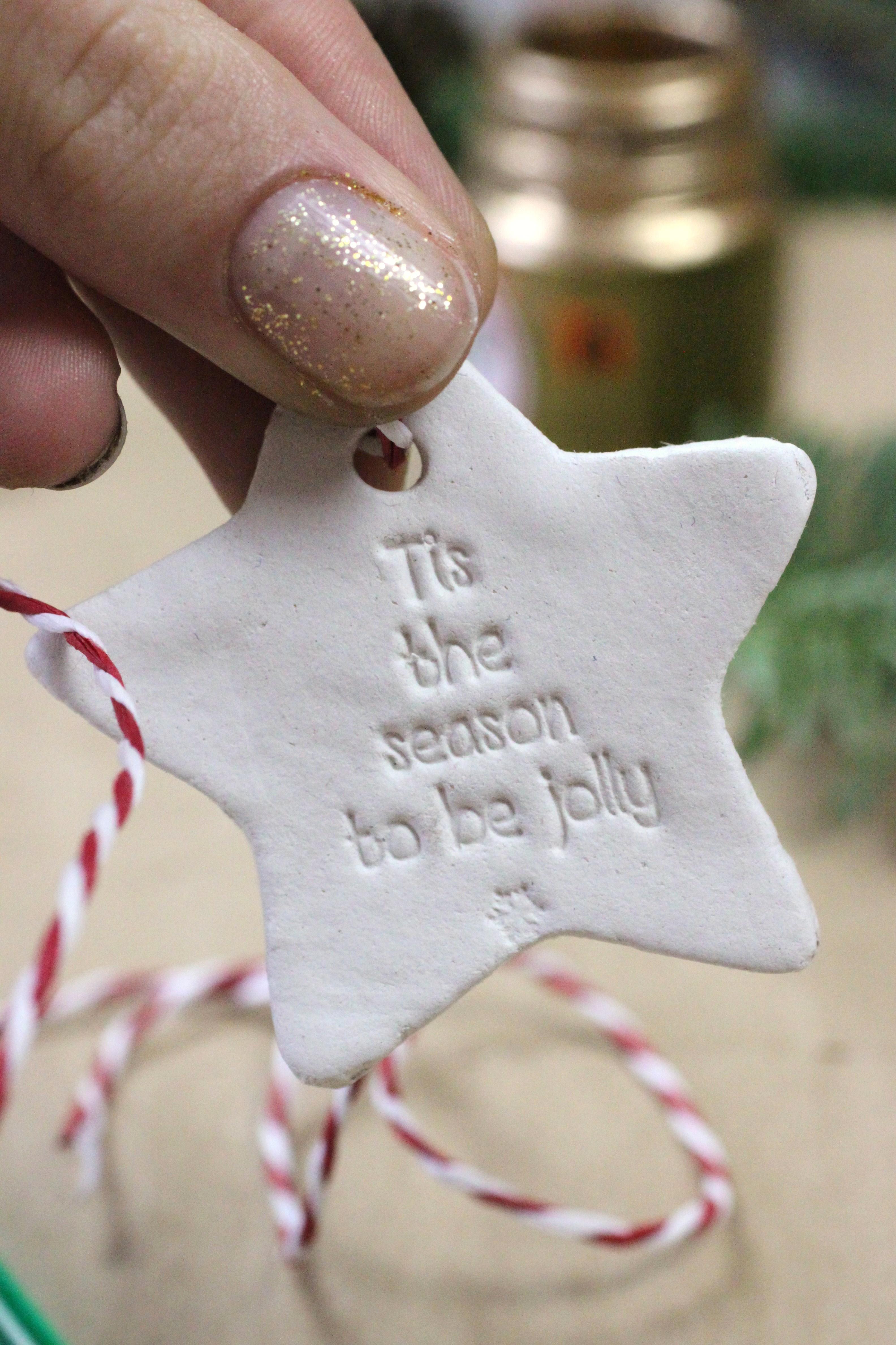 DIY Air Dry Clay Christmas Stars