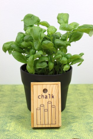 Chalk herb pot