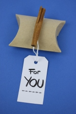 Brush Lettered Gift Tag 'For You' | Shelley Makes