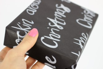 DIY Brush Lettered Gift Wrap | Shelley Makes