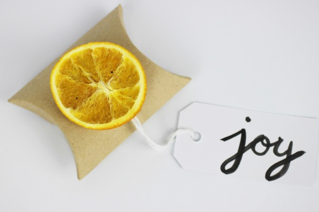 Joy orange gift pouch