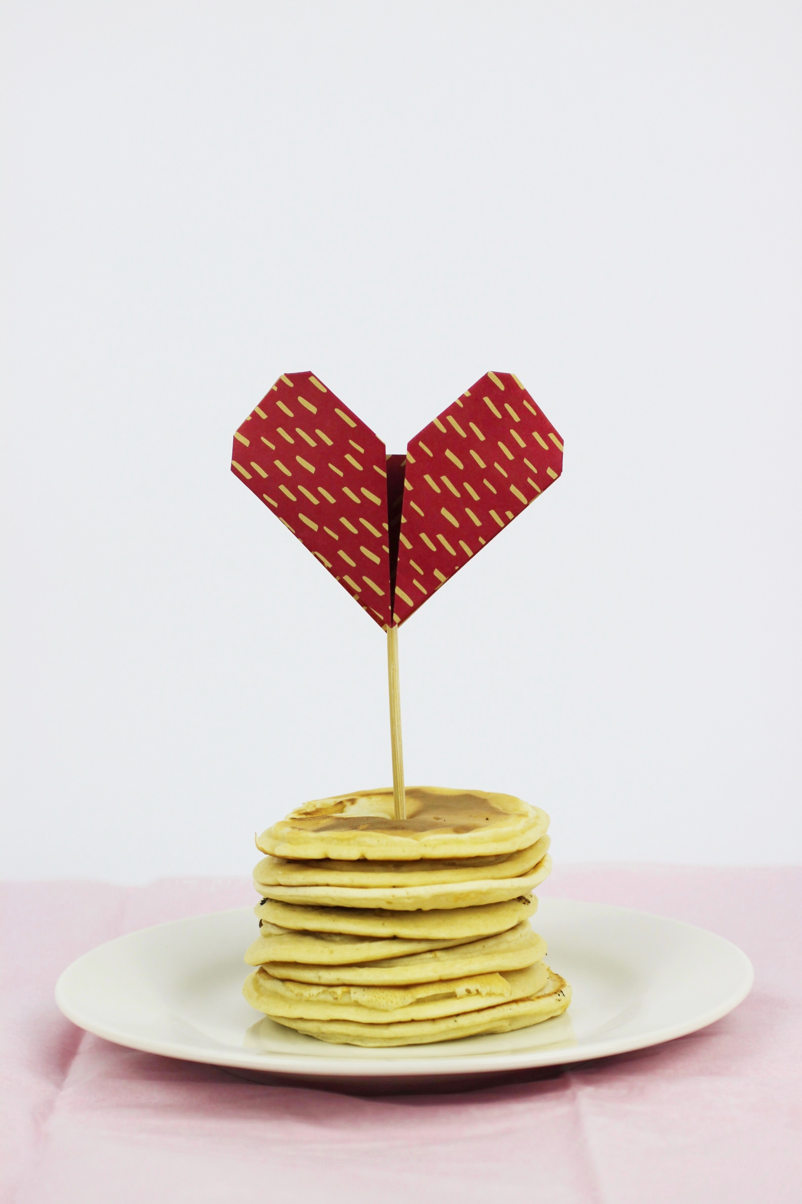 Diy Origami Heart Pancake Topper Shelley Makes Mouse Diagram Embroidery Img 0094