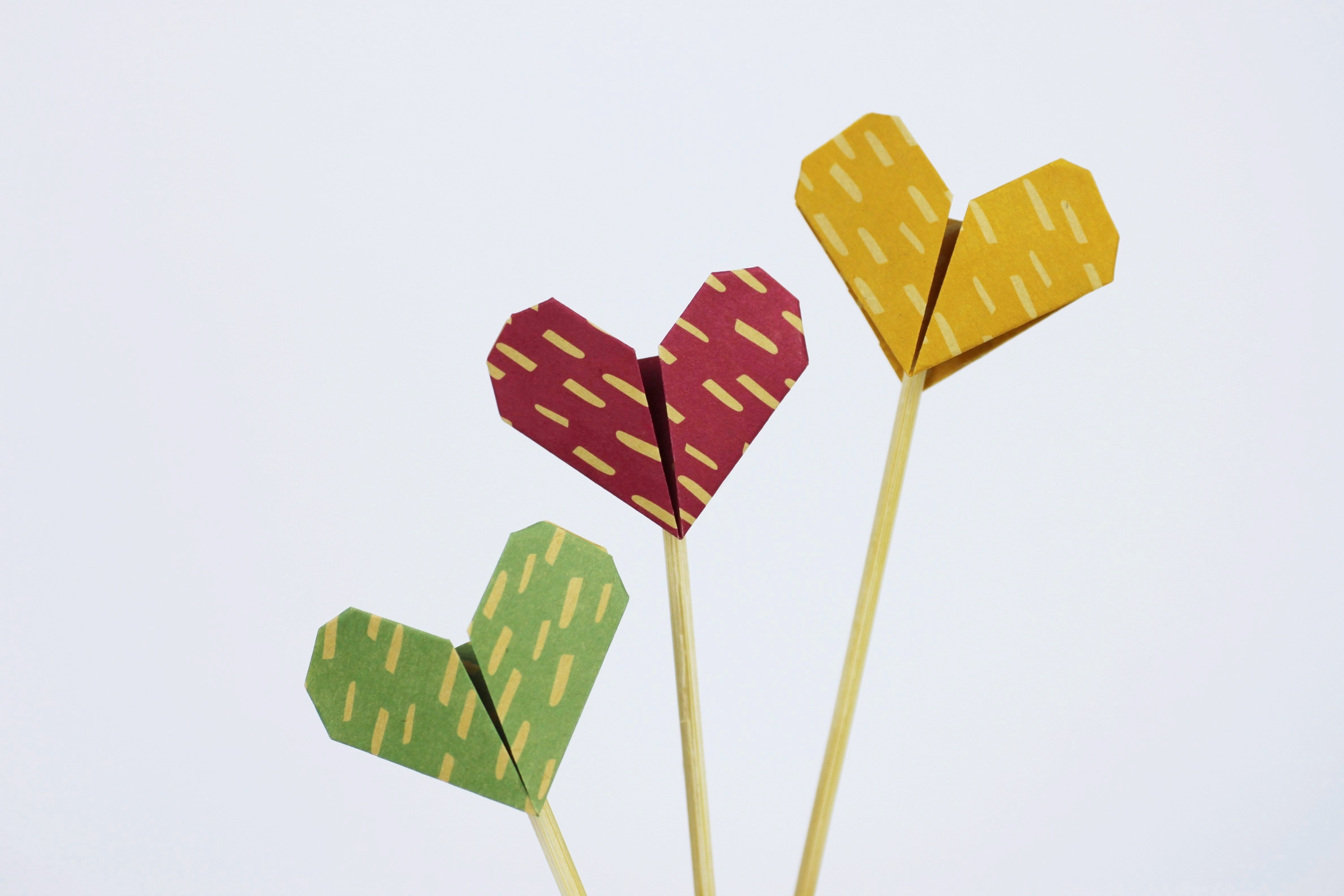 Diy Origami Heart Pancake Topper Shelley Makes