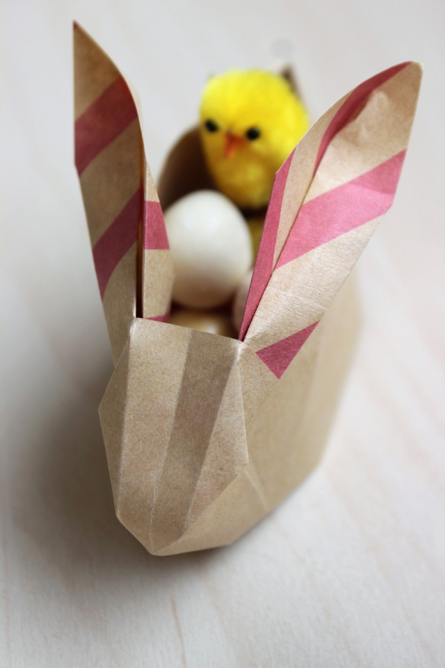 DIY Origami Easter Bunny - Shelley Makes (19)