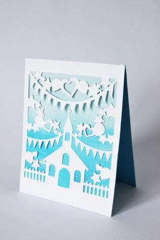 DIY Paper-Cut Christening Card (2) - Copy