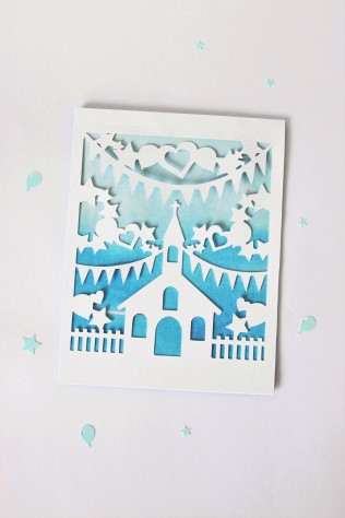 DIY Paper-Cut Christening Card (21) GET ORIGINAL - Copy