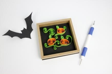 DIY Quilling Halloween Pumpkinsl_Shelley Makes-9137